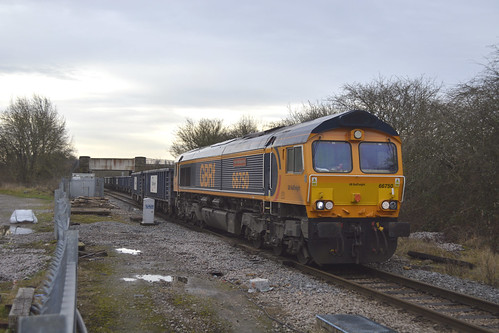GBRf 66750 at Dinnington Jn [1 of 3]