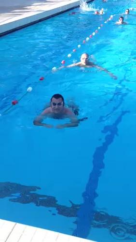 Vendome Triathlon à l'entraînement natation de juin 2015...par le Maître Wilfried...
