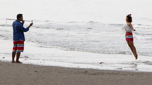 Les amoureux de la plage de Khao Takiab, Hua Hin