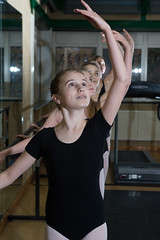 Arm raised ballet (St George's, Ascot) Tags: school ballet black girl st dance creative ascot georges leotard