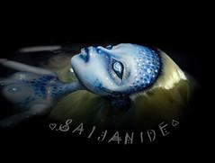 Puddle (saijanide) Tags: ocean blue sea lake water monster altered puddle high mod doll dolls ooak fantasy scales customized custom nudity creature siren repaint lagoona faceup saijanide