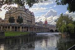 Evening River Walk (Jainbow) Tags: city bridge river bath avon weir pulteney jainbow