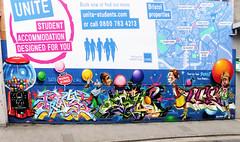 Burst Your Bubble (Viv Lynch) Tags: city uk england streetart southwest art festival bristol graffiti europe paint downtown unitedkingdom seenoevil bio british oldcity castlepark nicer nelsonstreet tatscru 2011 bg183