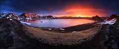 [ ... frostastaavatn ] (D-P Photography) Tags: morning sunset sun lake night sunrise canon landscape island iceland highlands amazing midsummer midnight stunning landschaft landmannalaugar feisol leefilters frostastadavatn dpphotography iuriebelegurschi dennispolklser