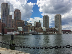 Boston Harbor (avatarsound) Tags: sky boston clouds boats harbor financialdistrict harborwalk iphoneography