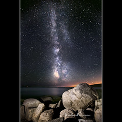 Starry Night in Acadia (BlakeSmithPhotography) Tags: ocean park light night canon painting way lens stars photography rocks smith national l 5d mm blake milky acadia mkii 1635 blakesmithphotography