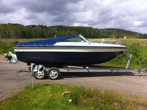 Motor båt kappel-Motor boat cover.