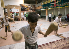The Traditional Sport Of Zurkhaneh, Isfahan Province, Kashan, Iran (Eric Lafforgue) Tags: people men sport horizontal training photography persian wooden athletic asia exercise iran wrestling muslim islam traditional performance ceremony middleeast competition persia bodybuilding indoors clubs ritual wrestler strength tradition activity orient groupofpeople kashan sufi sufism cultures islamic kachan zurkhaneh shiite practising menonly meel exercising traditionalsport إيران onlymen иран 5people colourimage イラン zourkhaneh irão isfahanprovince strengthtraining 伊朗 zurkhane muscularbuild sportstraining houseofstrength 이란 mixedagedrange iran150632