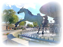 Horse Fountain 11 (milomingo) Tags: arizona urban sculpture horse art public water fountain animal bronze outdoors landmark civic scottsdale arabianhorse touristattraction municipal equine attraction horsefountain bobparks 5thavenueshops bobparkshorsefountain