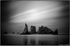 "The Quartet (Explored) (James A. Crawford - ""Crawf"") Tags: ocean longexposure wallpaper sky blackandwhite bw usa white seascape black art beach nature water monochrome oregon photoshop canon reflections landscape eos blackwhite rocks waves fineart creative explore textures ripples canoneos digitalphotography ebb edges longexposures ndfilter ebbtide creativephotography neutraldensityfilter neutraldensity blackwhitephotos cs5 efex natureplus innamoramento niksoftware creativedigitalphotography tonalcontrast blackandwhiteonly creativepostprocessing dfine20 viveza2 silverefexpro2 colorefexpro4 imageborders"