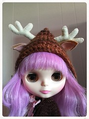 Fawn wearing her new hat!