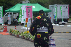 Sumo wrestler on his way