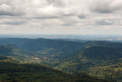 Vue sur Raon-sur-Plaine en Lorraine depuis le Donon (Altitude : 964 m)