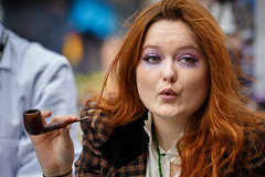 Edinburgh Festival Fringe 2015 (<p&p>photo) Tags: street uk red portrait people woman color colour art girl face festival female portraits hair scotland edinburgh theater theatre expression pipe performance performingarts performing arts royal style august fringe smoking redhead royalmile streetperformer entertainer smoker redhair drama performer edinburghfestival mile fringefestival edinburghfringefestival prformance 2015 pipesmoker edinburghfringe edinburghfestivalfringe pipesmoking edinburghstyle august2015 edinburghfestivalfringe2015