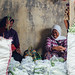 Muslim Women in Vegetable Market, Mt. Lawu Java