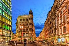 Prag (Radek Lokos Fotografie) Tags: prag praha night wenzelsplatz václavskénáměstí prague nacht city lights blue sky