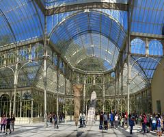 Palacio de Cristal Madrid (collage42 Pia-Vittoria//) Tags: madrid palacio cristallo cristal retiro vetro