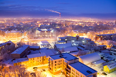 IMG_8623 (KarolisKybartas) Tags: klaipėda nightphotography long exposure city lights landscape snow winter roofs buildings building evening night