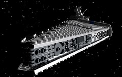 Harbinger class stardestroyer (Sunder_59) Tags: lego moc render blender3d mecabricks starwars ship starship stardestroyer space spaceship spacecraft scifi military