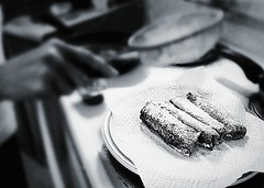 Pastry~ (K.Chris ~AlwaYs LeaRning~) Tags: food pastry bake kitchen blackandwhite monochrome art bokeh blurred focus composition