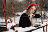 Nastya (ivankopchenov) Tags: girl portrait cute canon beautiful natural naturallight model mood sorrow people face dark fineart soft light eos young lonely hair wind tender outdoor sensual gentle cinematic forest winter snow cold glasses bridge river red beret