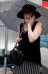 Sophisticated Lady (klauslang99) Tags: streetphotography klauslang lady woman sophisticated dress hat umbrella pattern outdoor portrait toronto
