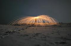 Storm of sparks (Toukensmash) Tags: snow winter storm long exposure steelwool sony alpha58 sigma1020 tracks austria styria leoben cold mountain light burning sparks