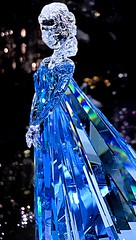 Let it go... (johnsinclair8888) Tags: macro blue crystal frozen disneyland sparkle iphone disney letitgo movie art statue figure affinityphoto macromondays inspiredbyasong flickrfriday seethrough