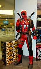 Deadpool photo of the day 1/11/2017 (Patches Madison) Tags: deadpool marvel sassy saucy christmasy season statue lifesized awesome superhero antihero merc with mouth
