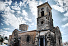 Medieval church in Ancient Sikyon village (jimiliop) Tags: church building architecture old medieval religion sky clouds hdr stone orthodox greece vasiliko sikyon corinthia sightseeing snow winter distortion village