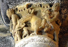 Fleeing (YIP2) Tags: chapiteaux capitals church stone pillar column medieval art facade abbaye lubersac limousin corrèze saintétienne capital abbey donkey sculpture sculptures france