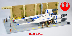 UT-60D U-Wing on Yavin 4 (JBIronWorks) Tags: uwing rogueoneastarwarsstory rogueone ut60d incomcorporation starwars lego awesome moc cool yavin4 rebel rebelalliance 60d