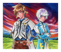 Tales-of-Zestiria (Khateerah) Tags: ps3 game fanart drawing colouring pencils chalk pastels fabercastell kohinoor tales zestiria manga anime