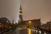 St. Katharinen Kirche (die_Nicky79) Tags: canon hamburg nachtfotografie kirchen stkatharinenkirche brücken jungfernbrücke langzeitbelichtung zollkanal explore