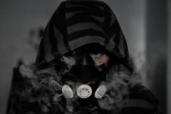 Breathe (randolf.bautista) Tags: mask hood hoodie smoke vape cool mysterious evil black white