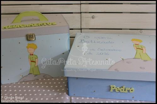"""Caixa de batizado e caixa para medicamentos """"Little Prince"""""""
