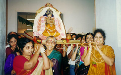 Carrying Goddess Lakshmi during the ritual wedding with Lord Vishnu (Atlanta, GA)