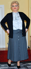 Ingrid019570 (ingrid_bach61) Tags: skirt mature button cardigan femdom pleated strickjacke governess faltenrock bowblouse schleifenbluse durchgeknpft