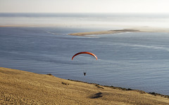 paragliding (klepher) Tags: ocean man france fly sand view air dune paragliding pyla