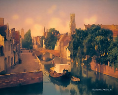 Digital Pastel Drawing of a Canal in Bruges by Charles W. Bailey, Jr. (Charles W. Bailey, Jr., Digital Artist) Tags: art photomanipulation photoshop canal europe belgium drawing digitalart bruges belfort topaz pasteldrawing digitalartist topazclean belfryofbruges topazdenoise topazdejpeg topazremask topazclarity topazlenseffects topazrestyle charleswbaileyjr topazimpression