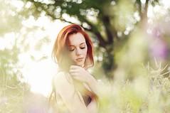 Summer vibes (caras.muffin) Tags: light red summer portrait woman sun green girl field hair 50mm cool model pentax bokeh outdoor selftaught romantic