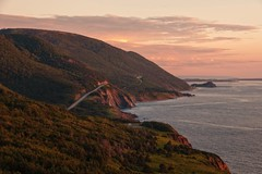 golden hour on the cabot trail, Cape Breton, Nova Scotia (-liyen-) Tags: ocean sunset sea seascape canada nature water beautiful landscape evening coast novascotia capebreton coastline majestic goldenhour maritimes eastcoast cabottrail cheticamp tranqquility challengeyouwinner nikon300 viewofthetrailfromcheticampside