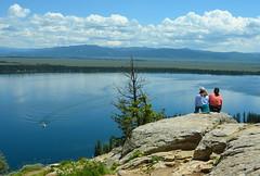 Getting inspired (afagen) Tags: lake nps hiking trail wyoming nationalparkservice inspirationpoint grandteton jacksonhole grandtetonnationalpark jennylake