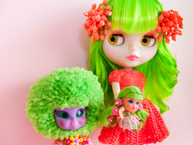 Green Haired ladies