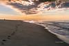 My Footprints in the Sand / Mis huellas en la arena (Oquendo) Tags: ocean park new york morning sea sun west beach nature birds sunrise landscape outdoors jones mar am sand waves playa preserve olas