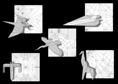 New and recent diagrams (Mdanger217) Tags: new origami pattern designs crease diagrams