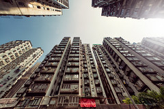 A Day in Hong Kong #2 (Jrme Castilloux) Tags: china sky up buildings asian hongkong blog nikon angle bladerunner extreme wide sigma flare ultra f28 d800 14mm isayx3 plainjoestudios plainjoephotoblogcom