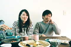 the relevant humor (troutfactory) Tags: friends party film japan laughing joke rangefinder 大阪 日本 osaka analogue kansai 関西 natura1600 35mmultron voigtlanderbessar2a