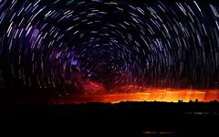 Milky Way star tracks above Prescott MI (hz536n/George Thomas) Tags: 2015 canon5d ef1740mmf4lusm sky night cs5 copyright prescott michigan upnorth stars startrails milkyway startracks
