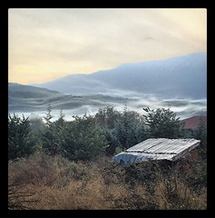 Beautiful veil clouds (VillaRhapsody) Tags: clouds morning sunrise veilclouds mountains hills kayaky village rural foggy